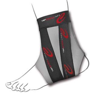 Cavigliera in carbonio e taping integrato